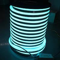 Двусторонняя LED неоновая излучающая лента LTL FLEX 8х16mm 120 LED 2835smd IP67 220v Sky blue, фото 1