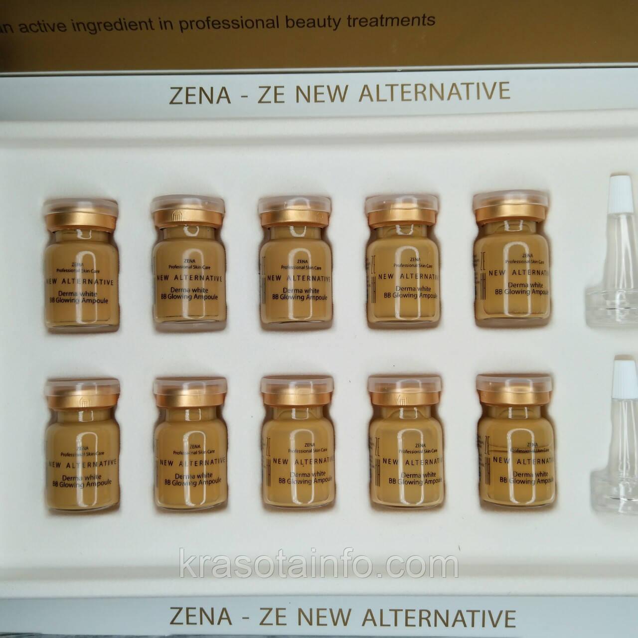 Набор BB glow Zena № 25 treatment ББ мезо для процедуры биби глоу BB meso white skin, Zena, 5 мл, 10 штук, фото 1