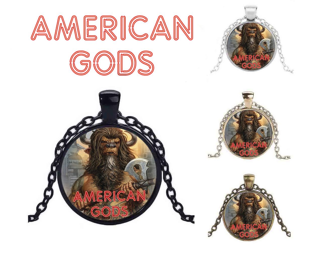 Кулон Американские боги / American Gods с изображением Минотавра