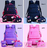 Рюкзак женский Набор 3 в 1 для девочки 4 цвета. Звезды.  В подарок брелок., фото 1
