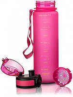 Пляшка для води Uzspace Frosted 500 мл рожева