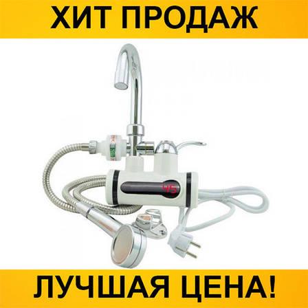 Проточный водонагреватель Deimanо с краном и душем, фото 2
