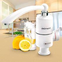 Проточный водонагреватель Deimanо электрический на кран смеситель, фото 3