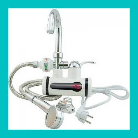 Проточный водонагреватель с душем L2008, фото 2