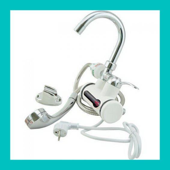Проточный водонагреватель с душем L2008!Лучший подарок