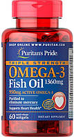 Комплекс незаменимых жирных кислот Puritan's Pride Omega 3 Triple Strength 1360 мг (60 капс)