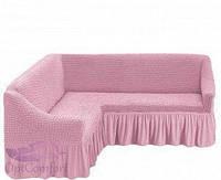Чехол на угловой диван. Цвет розовый, фото 1