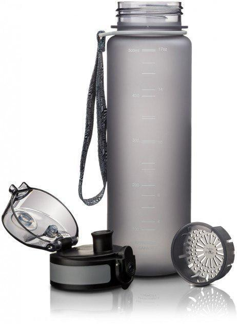 Пляшка для води Uzspace Frosted 500 мл сіра