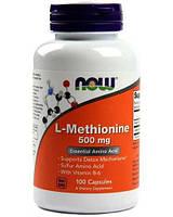 Аминокислоты NOW L-Methionine 500 mg (100 капс)