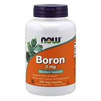 Активное долголетие NOW Boron 3 mg (100 капс)