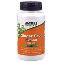 Активное долголетие NOW Ginger Root Extract (90 капс)