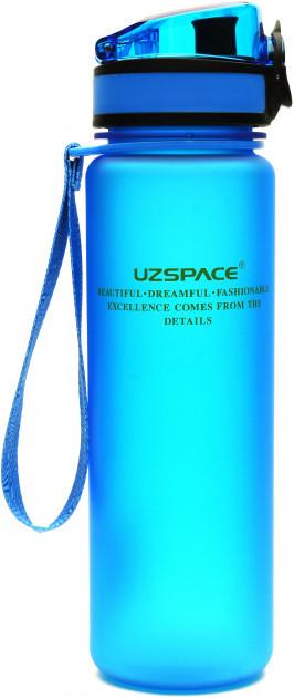 Пляшка для води Uzspace Frosted 500 мл голуба