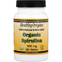 Органическая Спирулина Healthy Origins Organic Spirulina 500 мг (30 таблеток)