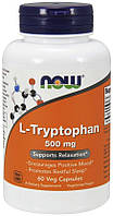 L-Триптофан Now Foods L-Tryptophan 500 мг (60 желевых капсул)