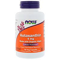 Антиоксидант Now Foods Astaxanthin 4 мг (90 желатиновых капсул)