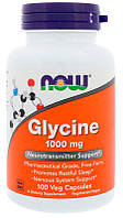 Аминокислоты Now Foods Glycine 1000 мг (100 желевых капсул)