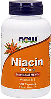 Ниацин Now Foods Niacin with Vitamin В-3 500 мг (100 капсул)