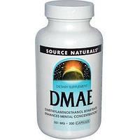 Активатор деятельности мозга Source Naturals DMAE 351 мг (200 капсул)