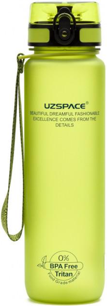 Пляшка для води Uzspace Frosted 500 мл зелена