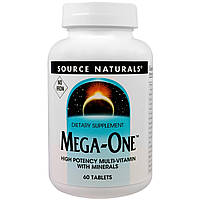 Комплекс витаминов и минералов Source Naturals Mega One (60 таблеток)