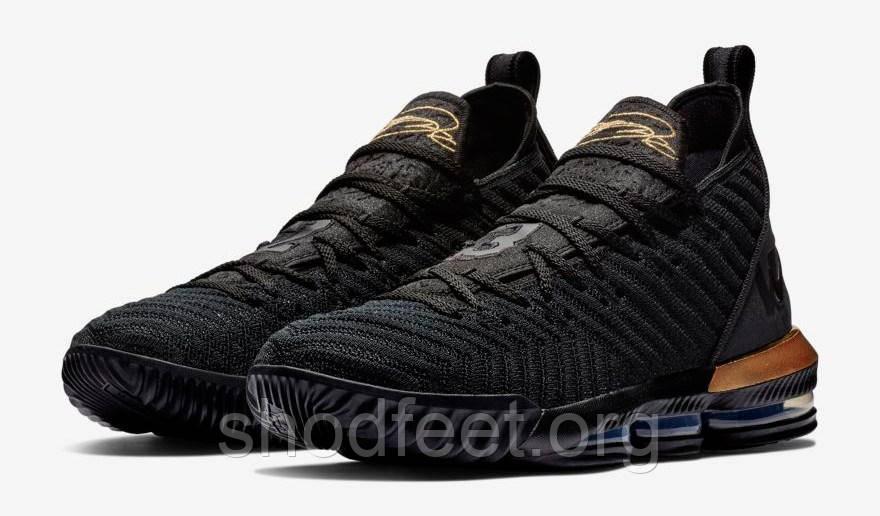 Баскетбольные кроссовки Найк Lebron 16 I Am King Black Gold