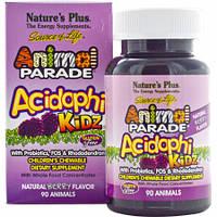 Пробиотический Комплекс для Улучшения Пищеварения для Детей Natures Plus Animal Parade Acidophi Kidz (90 таблеток)