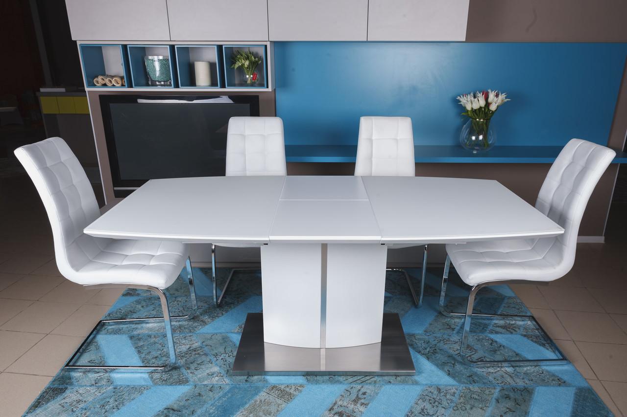Стол обеденный Nicolas DALLAS 140/180х85х76 см белый