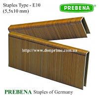 Скобы PREBENA | скоба каркасная Тип-Е (5,5х10 мм)