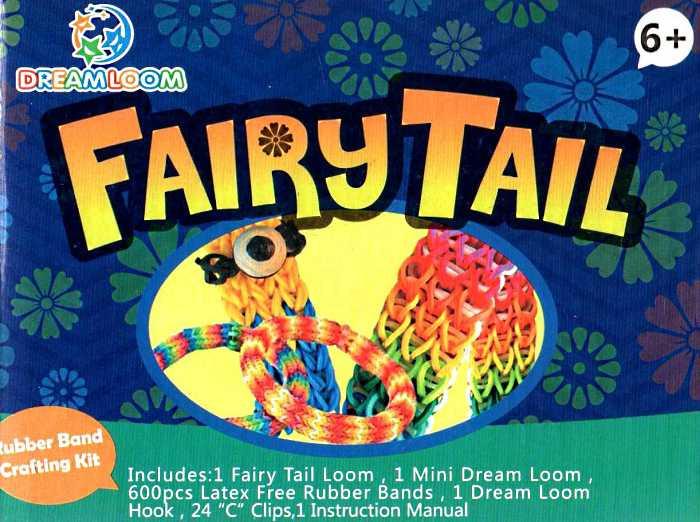 Набір резинок для плетіння в картонній коробці Fairy Tail