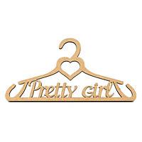 Заготівля для декору плічка Pretty Girl (МДФ) 35х18 см