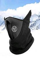 Бафф маска флис лыжная Черная, Унисекс, фото 1