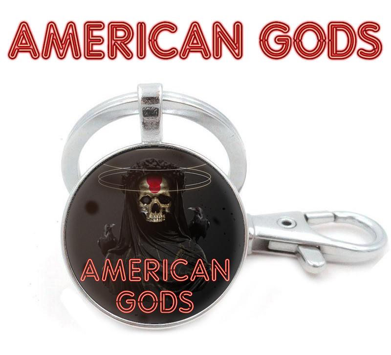 БрелокАмериканские боги / American Godsчерный с изображением Смерти