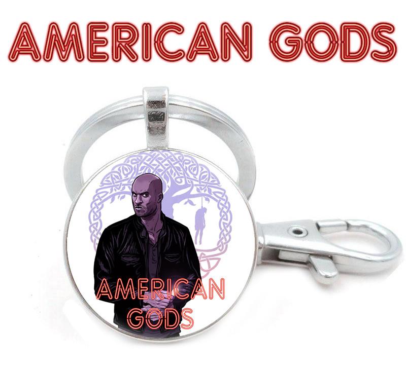 Брелок Американские боги / American Godsчерный с Тенью Лун