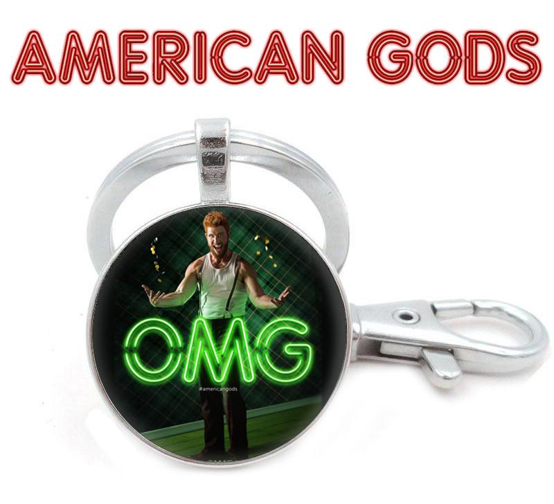 Брелок Американские боги / American Godsчерный с изображением Леприкона