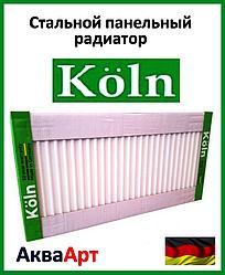Стальной радиатор Köln 22k 500*500 боковое подключение