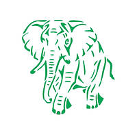 Трафарет 14х20 см Слон