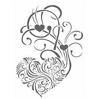 Трафарет декоративный 22х33 см Сердечные узоры