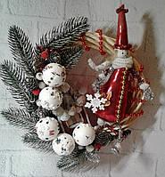 Новогодний декоративный венок  на дверь Ручная работа