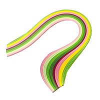 Набір паперу для квілінгу 1,5 мм Вишневий колір, 8 кольорів, 100 шт.