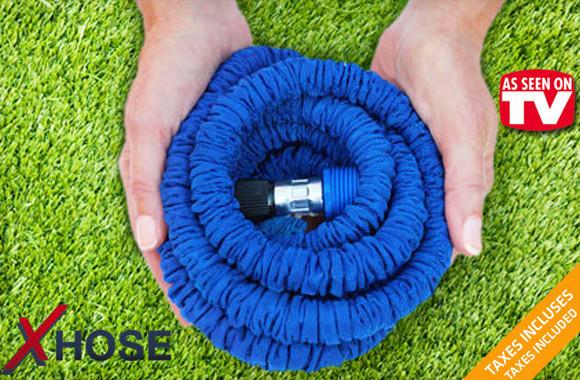 Шланг растягивающийся Xhose 7,5 м с распылителем,  7 режимов