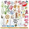 Бумага для скрапбукинга 20x20 см Sea Breeze, 10 листов