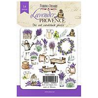 Набор высечек для скрапбукинга Lavender provence, 54 шт