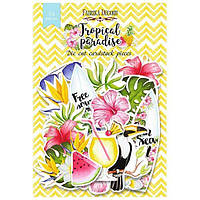 Набор высечек для скрапбукинга Tropical paradise, 54 шт