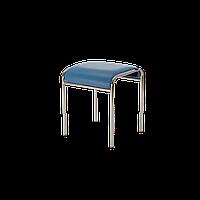 Табурет кухонный металлический Caddy chrome EV-03 синий