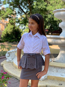 Юбка школьная короткая для девочки мадонна/тиар 122,128,134,140