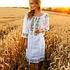 Белое платье вышиванка с цветами Ятрань, фото 6