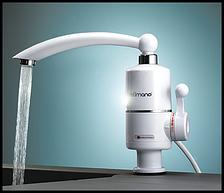 Проточный водонагреватель электрический Делимано, кран 3кВт, белый