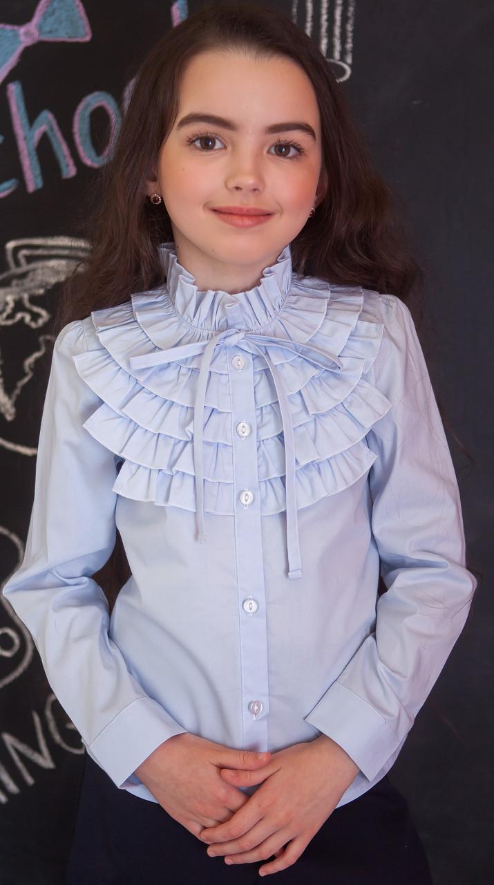 Школьная блузка Свит блуз  мод.2093 голубая р.140