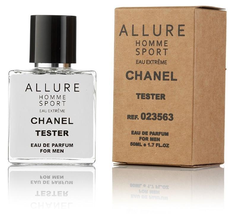 Туалетная вода мужская Chanel Allure Homme Sport eau Extreme 50 ml, Orign Tester, эко упаковка
