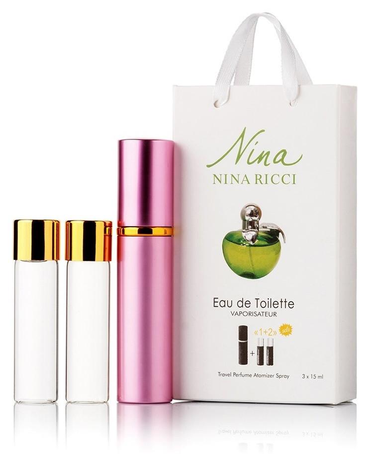 Туалетная вода женская Nina Ricci Nina Plain edt 3X15 ml, Подарочная упаковка!